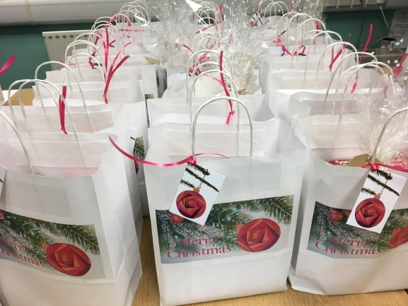 Christmas Bags to our Befriending & Carer Support clients